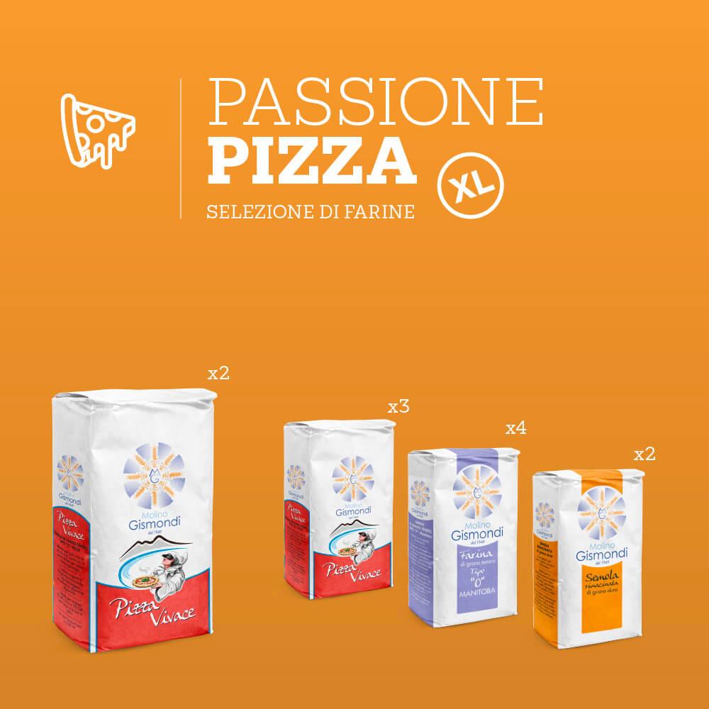 Selezione di farine per la pizza fatta in casa formato XL